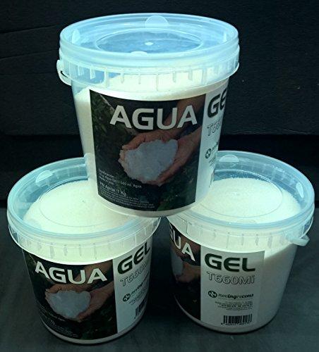 NOVINGRECONS Agua Gel - Formato Jardin/Huerto. Retenedor Agua Multiples Ciclos Uso. Cubo 1Kg.