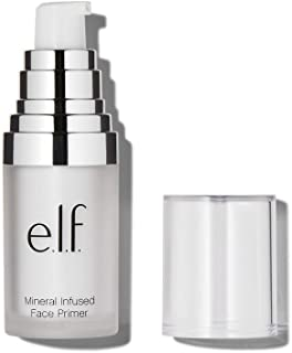 e.l.f., Mineral Infused Face Primer - Small, Weightless, Silky, Long Lasting, Creates a Smooth Base, Fills Fine Lines, Ref...
