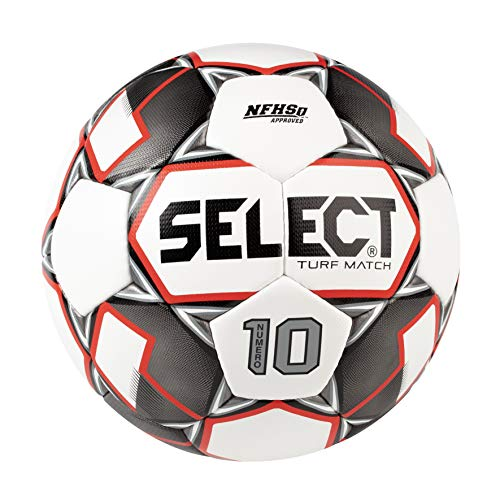 SELECT Numero 10 Match Turf soccer ball - White, Size 5