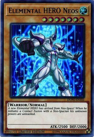 Yu-Gi-Oh! - Elemental Hero Neos - DUPO-EN102 - Ultra Rare - Limited Edition - Duel Power