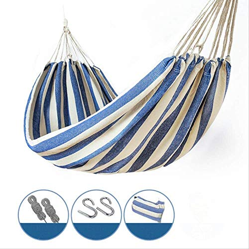 BZLLW Hammock,Portable Wide Thick Swing Hang Bed with Carrying Bag for Camping Outdoors Gardens Travel Patio Yard Garden 200x100cm,Load Bearing 200Kg