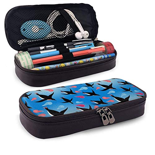 XCNGG Estuche para lápices neceser Penguins in The Sea Pencil Case Big Capacity Pen Case Desk Organizer with Zipper - 8x3.5x1.5 Inches