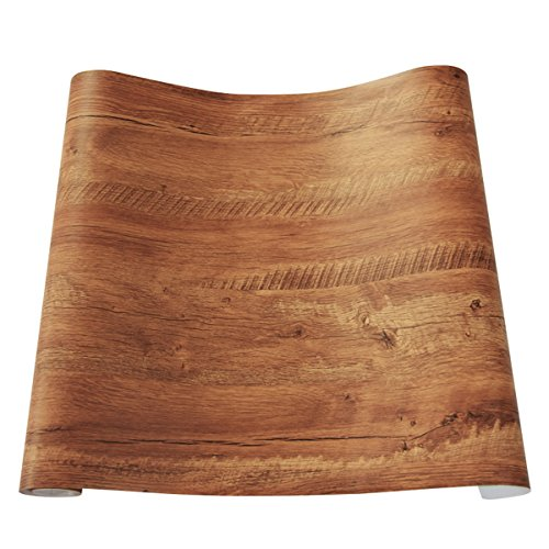 Decorativa sintética grano de madera papel de contacto vini