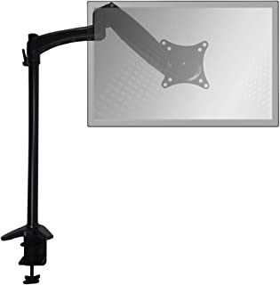 Sit-Stand Desk Mount Monitor Arm Adjustable Hydraulic Arm by Home Concept - Support Your Monitor at The Correct Height for Ergonomic Comfort (Extended, Single Screen, Black)