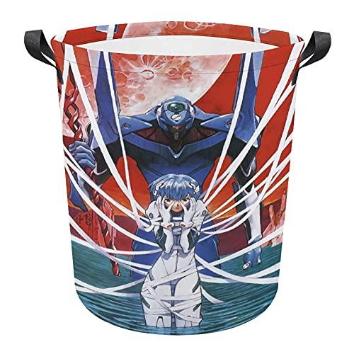Evangelion Ling Bolis - Cesto circular plegable para ropa sucia, bolsa de...