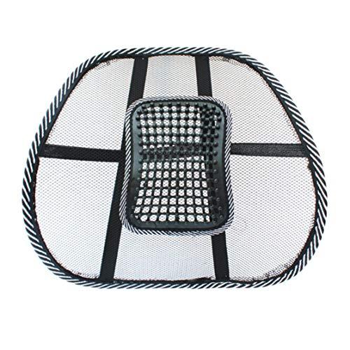 Licini Silla de masaje para espalda Soporte lumbar Malla Ventilar Cojín Cojín Asiento de oficina para automóvil Gran soporte de masaje relajante para asiento en el automóvil,...