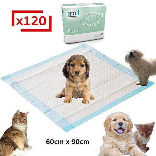 LPM - 120 Tapis Educateurs pour Chiens 60 x 90 cm - Apprentissage pour la propreté - Ultra Absorbant
