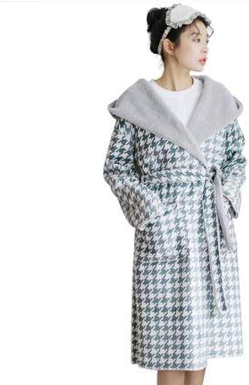 NAN Liang Women's Luxury Robe, Autumn and Winter Thick Warm Pajamas, Long Korean Version of The Bathrobe Home Service Soft (Size   XXL)