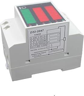 Carril DIN Digital de Voltaje de Corriente AC80-300V Voltímetro Medidor de Potencia Amperímetro