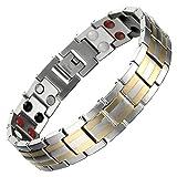 COOLSTEELANDBEYOND Moderne Homme Aimanté Bracelet Acier - Élément Aimants...