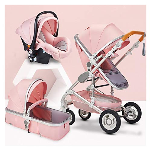 XYSQ Carrito Bebe 3 En 1, Cochecito De Bebé, Carros para Bebes, Cochecitos De Bebé para 0-36 Meses Carretilla De Bebé, Cochecito De Bebé Ajustable Vista Alta PrAM Sistema De Viaje Carruaje Infantil