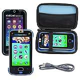Aproca Duro Viajes Funda Bolso Caso para Vtech Kidicom MAX / Vtech Kidicom Advance (Black-Inner Blue)
