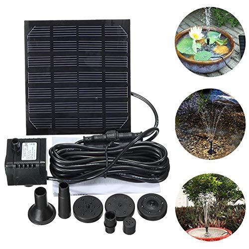 Douup Minisolarteichpumpe, Solarwasserpumpe Power Panel Kit Submersible Brushless Für Garten Wasserdurchlauf/Teich-Brunnen (7V 1.2W)