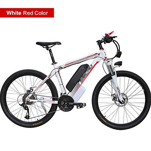 PHASFBJ Elektrofahrrad Mountainbike, City Ebike 26 Zoll Reifen Elektrisches Faltbares Fahrrad mit 350W Kettenschaltung Shimano 21 Gang Elektro Fahrrad Herren,#4,48V15AH