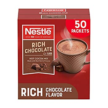 Nestle Hot Chocolate Packets Hot Cocoa Mix Rich Chocolate Flavor Made with Real Cocoa 50 Count  0.71 Oz each  35.5 Oz
