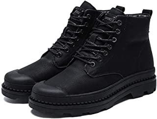 Dr. Martin unisex boots High-top tooling boots simple tooling ankle boots thick wear-resistant boots casual plus size ankle shoes non-slip wear-resistant short boots (Color : Black, Size : 43)