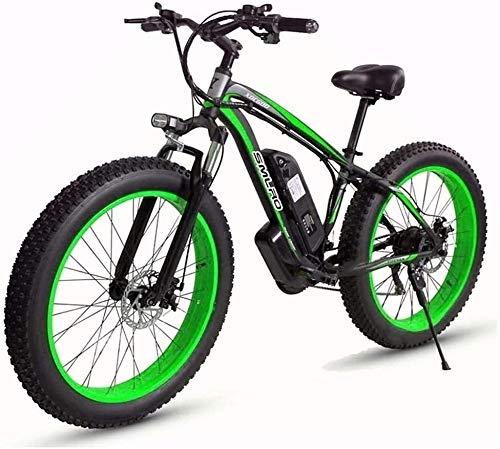 LAZNG Vélos électriques, Vélos Neige/VTT, 48V 1000W Moteur, 17.5AH Batterie au Lithium, vélo électrique, 26 Pouces électrique Fat Tire Bicyclette (Couleur : E)