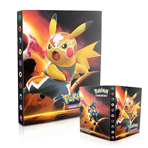 Tarjetero Pokémon, Álbum de Pokemon, Álbum de Cartas Coleccionables Pokémon, Álbum de Entrenador de Cartas Pokémon GX EX. El álbum Tiene 30 páginas y Puede Contener 240 Tarjetas (Pikachu movie)