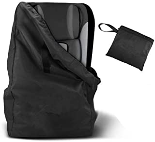 Child Safety Seat Travel Bag Baby Stroller Storage Bag Universal Size Car Seat Dust Cover with Shoulder Straps Black