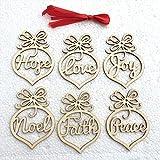6 unids/set bombilla de luz adornos de madera Navidad árbol rústico colgante adorno decoración en blanco etiquetas de regalo artesanías-madera BCVBFGCXVB