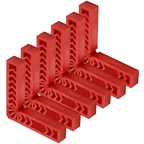 Dasing 6 STKS 6-Inch 90 Graden Positionering kubus, Rechterhoek Fixture Houtbewerking Hoek Klemmen Vierkant Tool voor fotolijsten, Dozen, Kasten of Laden