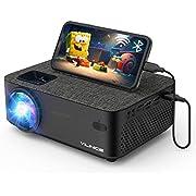 """Vidéoprojecteur, Vili Nice WiFi Mini Projecteur Full HD 6000 Lux Retroprojecteur avec 1080P et 240"""" Supported, Projecteur LED Compatible HDMI VGA USB SD AV Ordinateur Smartphone Home Cinéma"""