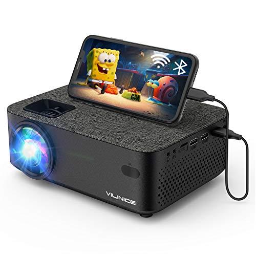 Mini Beamer, VILINICE Heimkino Beamer Full HD, WiFi Projektor mit 5500Lux unterstützt 1080P Multimedia 240