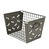 Spectrum Diversified Macklin Basket, Dog Bone Design, Industrial Gray