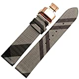 Choco&Man US Calfskin Leather Watch Band Fit for Men's Burberry Watches