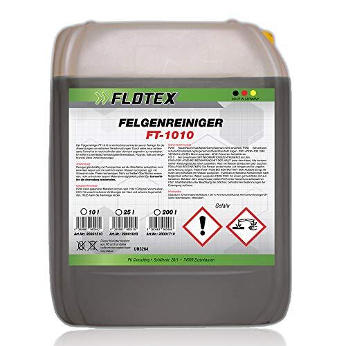 Flotex® Felgenreiniger Konzentrat, 10L - Felgenreinigung für alle Felgen, reinigt selbst hartnäckigsten Schmutz und Flugrost