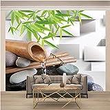 Papel Pintado Papel Pared ,430 x 300 Cm,Papel Pintado Papel Pintado Murales Decoración De Paredes Moderna - Bambú Y Agua