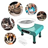 Digital Control Pottery Wheel, 350W 25CM Pottery Forming Machine Electric Pottery Wheel with Foot Pedal and Detachable Basin for Ceramics Clay Art Craft DIY Clay
