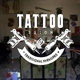 zqyjhkou Custom Tattoo Studio Sign Logo Decal Tattoo Salon Sticker Sign Store...