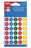 Apli 11335 - Bolsa de 150 anillas de colores surtidos Ø 15 mm