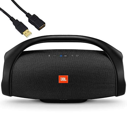 JBL Boombox - Waterproof Portable Bluetooth Speaker - Family Holiday & Home Party - IPX7 Water-Resistant, 20,000 mAh Battery up to 24 Hours of Nonstop Playback - BROAGE USB Extension Cord - Black