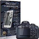 OnScreen Schutzfolie Panzerglas kompatibel mit Canon EOS 2000D Panzer-Glas-Folie = biegsames HYBRIDGLAS, Bildschirmschutzfolie, splitterfrei, MATT, Anti-Reflex - entspiegelnd