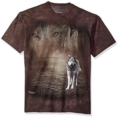 The Mountain Herren Grey Wolf Portrait T-Shirt, grau, 3X-Groß