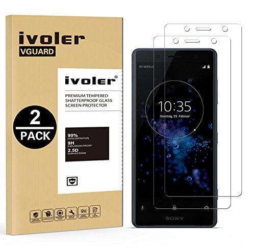 iVoler [2 Pack] Pellicola Vetro Temperato per Sony Xperia XZ2 Compact, Pellicola Protettiva, Protezione per Schermo