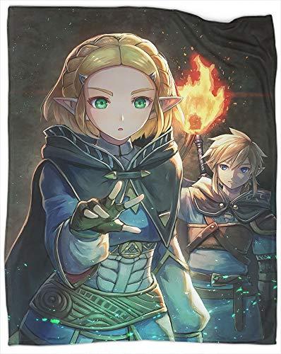 Coperta leggera e accogliente The Legend of Zelda:Breath of the Wild Throw super morbida e calda coperta di lusso in pile per letto divano dimensioni 127 x 152,4 cm