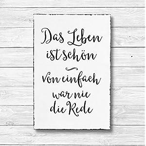 Das Leben ist schön – Chocolate Schokolade Dekoschild Wandschild Holz Deko Wand Schild 20x30cm Holzdeko Holzbild…