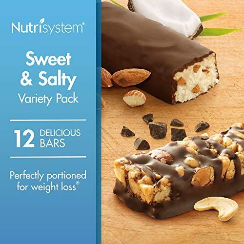 Nutrisystem Sweet and Salty Bars Variety Pack, 12 Count Bars