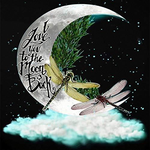 WAWDH Libellule de Lune Ciel étoilé Puzzle 1000 Pieces pour Adulte et Enfan,Puzzles Jouets éducatifs Jeux,Puzzle de défi cérébral pour Enfants Adolescents,Est Un Bon Cadeau pour Les Amis(75x50cm)