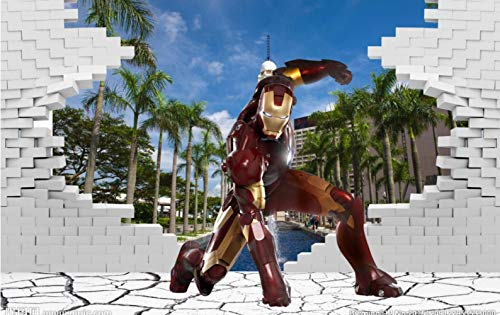 3D View Iron Man Wallpaper Giant Mural Cool Photo Wallpaper Boy Room Decoration Tv Background Wall Bedroom Corridor Children Room