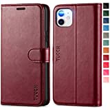TUCCH iPhone 11 Case, iPhone 11 Wallet Case with Kickstand Credit Card Holder RFID Blocking, Magnetic Closure PU Leather Flip Cover Compatible with iPhone 11 (2019 Release 6.1 inch), Wine Red i phone 6 slim case Oct, 2020