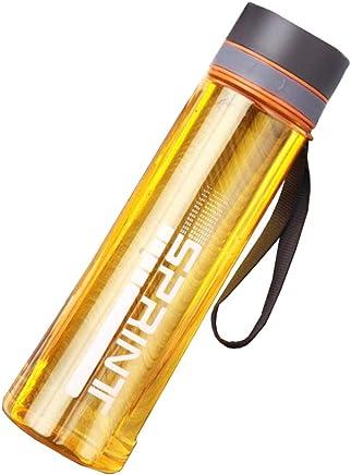 (ランイー) 水筒 ウォーターボトル スポーツ 大容量 1000ml フィルター付き マグボトル 透明 カップ 登山用 漏れ防止 アウトドア 携帯便利 運動会 軽量 オレンジ