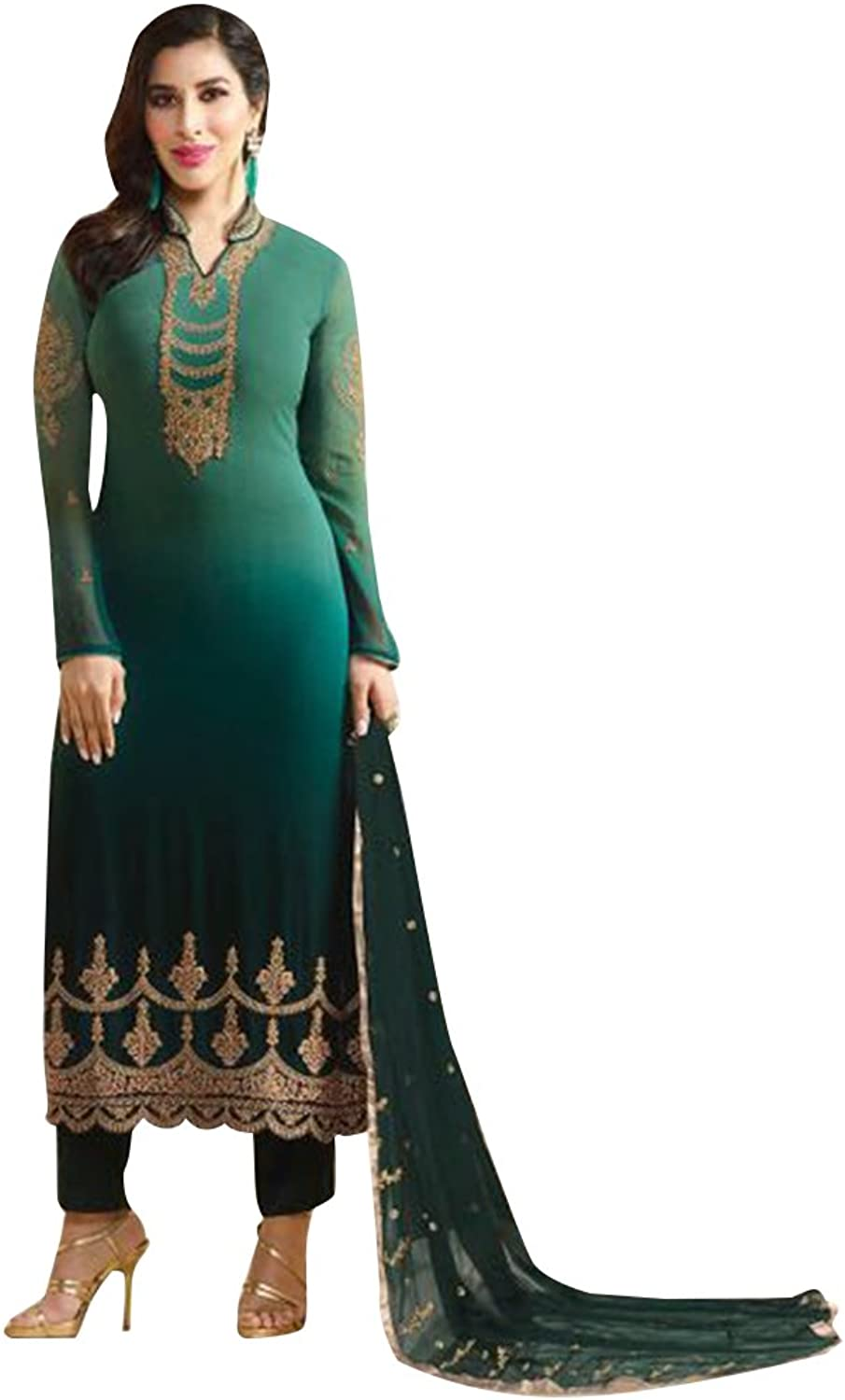 Punjabi Bollywood Straight Dresses for women Salwar Kameez Ceremony Wedding 754 10