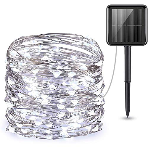 SOOTOP Solar String Lights (8 Modes 39 ft 240 LED), Solar Fairy Lights with Bendable 24 Meters Lasting Durabble Copper Wire, IP65 Waterproof Light Sensor for Home, Garden, Patio, Yard, Party, Wedding -  E92511151723IFJ