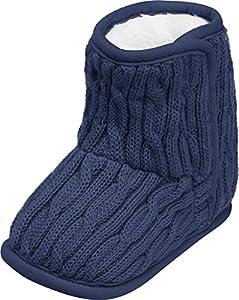Playshoes Calzado de Punto Forrado, Zapatos para Gatear Unisex niños, Azul (Marine 11), 20/21 EU