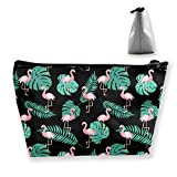 Tropical Flamingo Leaf Print Multifunción Estuche Organizad