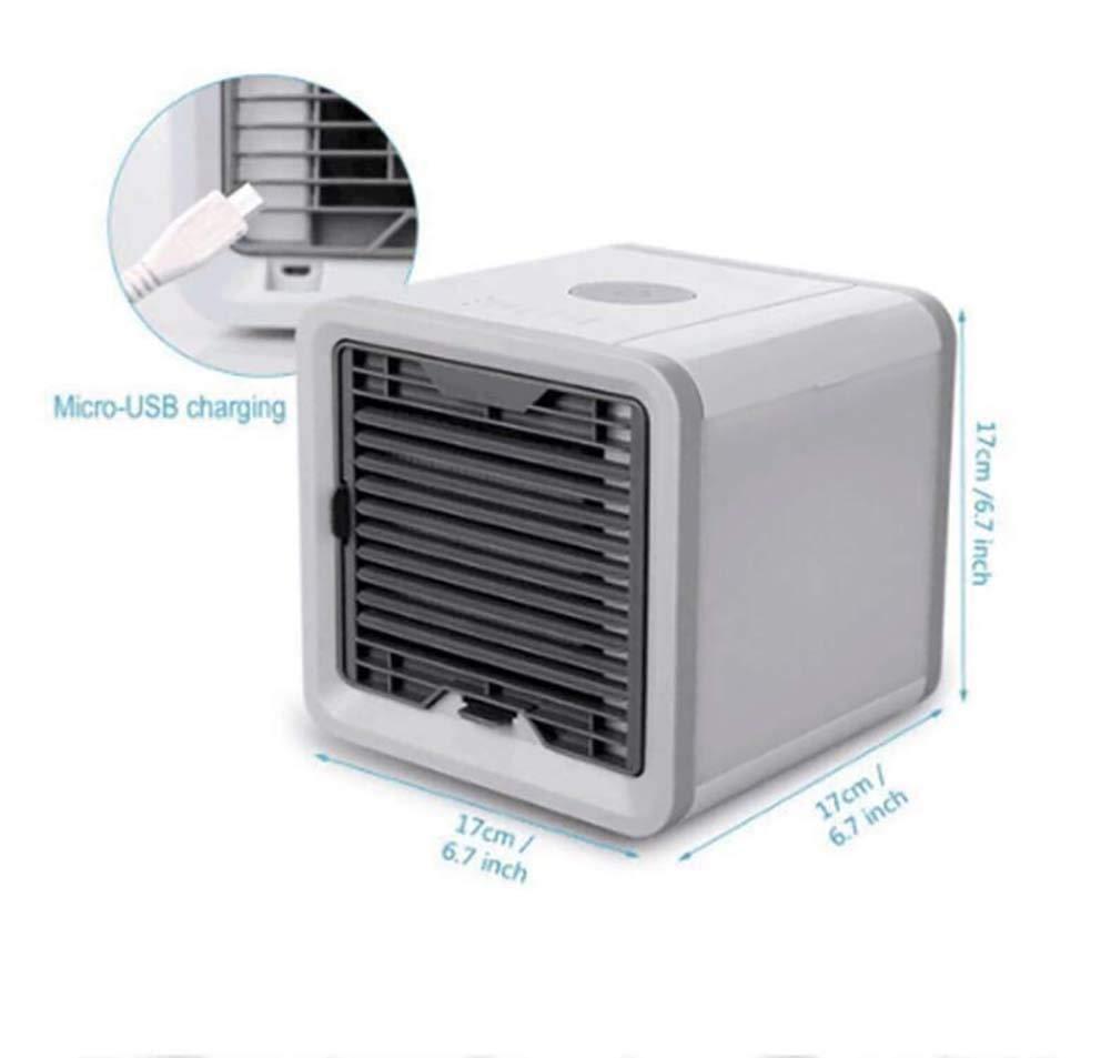 furein Mini Aire Acondicionado USB,Climatizador Portátil Ventilador Purificador Humidificador, 7 Colores, 3 Velocidades Ajustable para Hogar Oficina: Amazon.es: Hogar